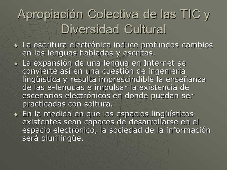 Apropiación Colectiva de las TIC y Diversidad Cultural