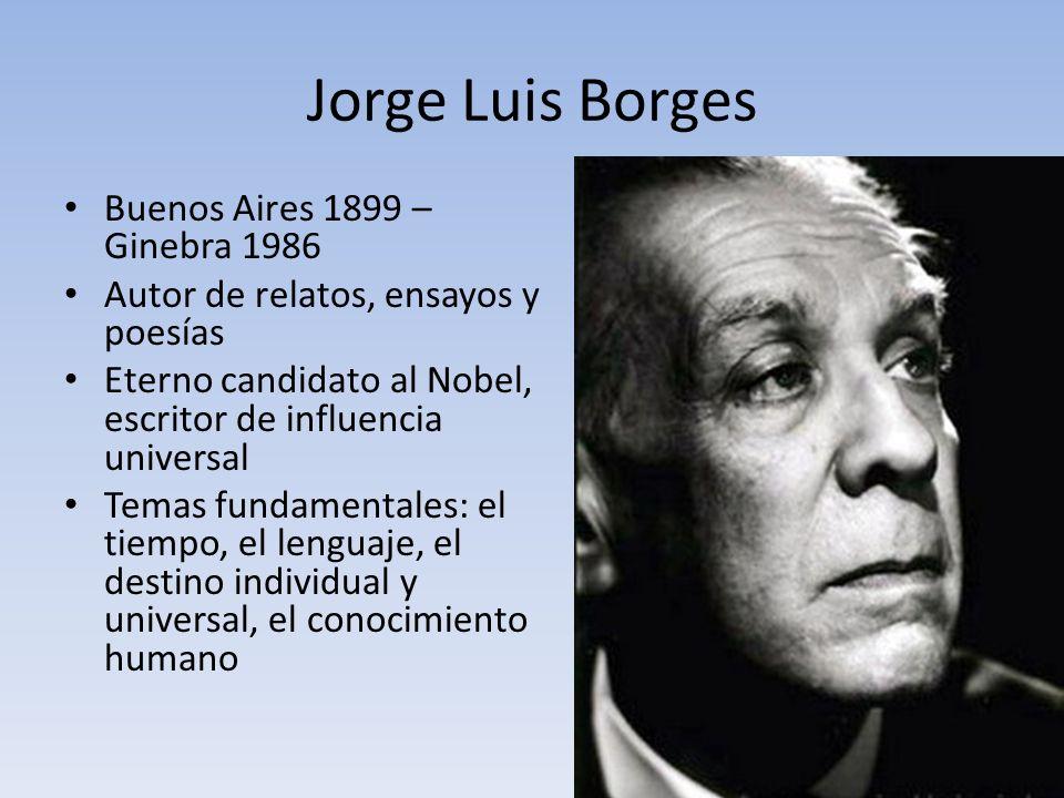 Jorge Luis Borges Buenos Aires 1899 – Ginebra 1986
