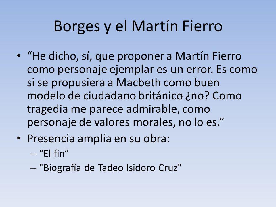 Borges y el Martín Fierro