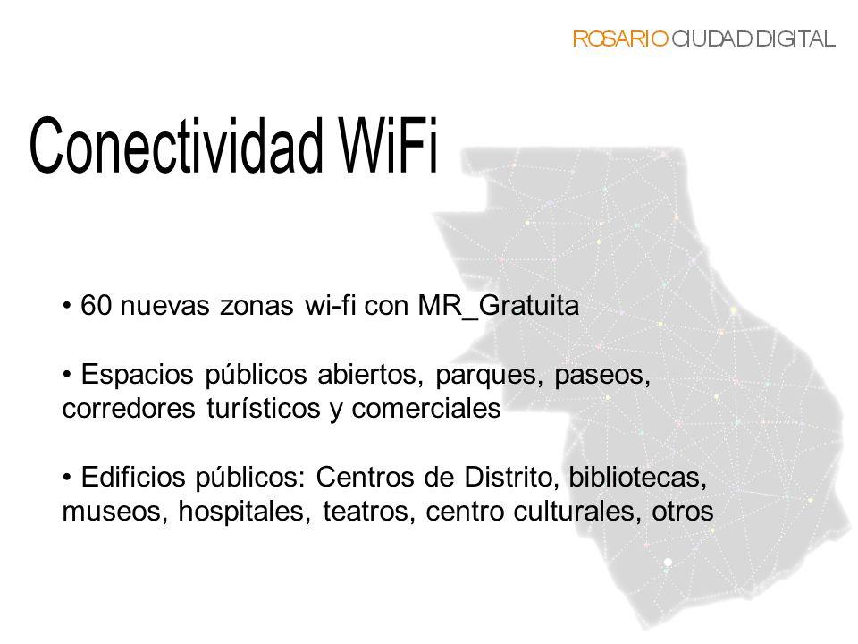 Conectividad WiFi 60 nuevas zonas wi-fi con MR_Gratuita