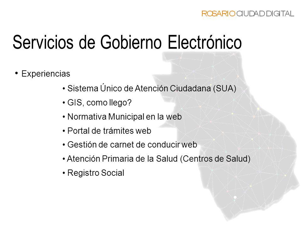 Servicios de Gobierno Electrónico