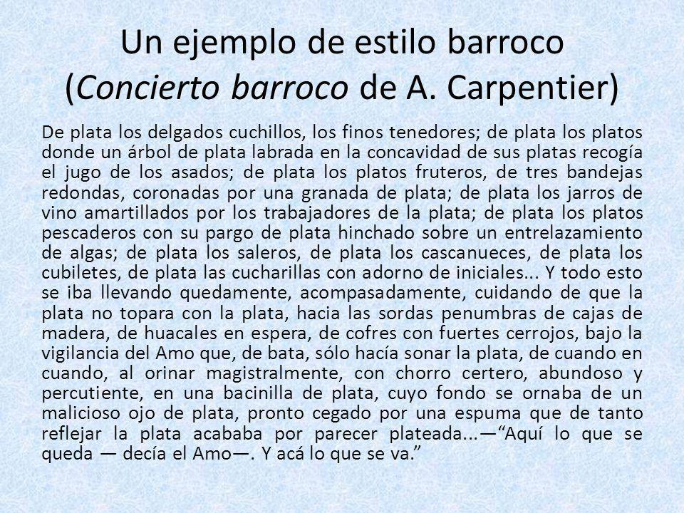 Un ejemplo de estilo barroco (Concierto barroco de A. Carpentier)