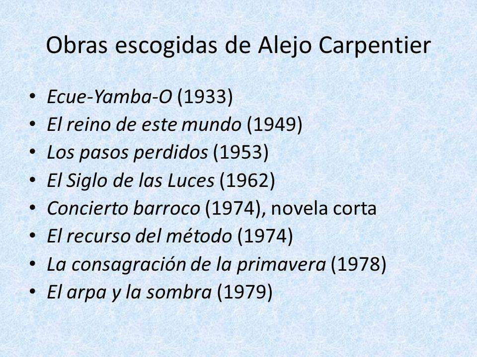 Obras escogidas de Alejo Carpentier