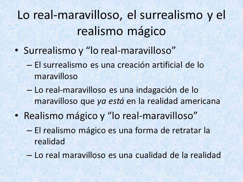 Lo real-maravilloso, el surrealismo y el realismo mágico