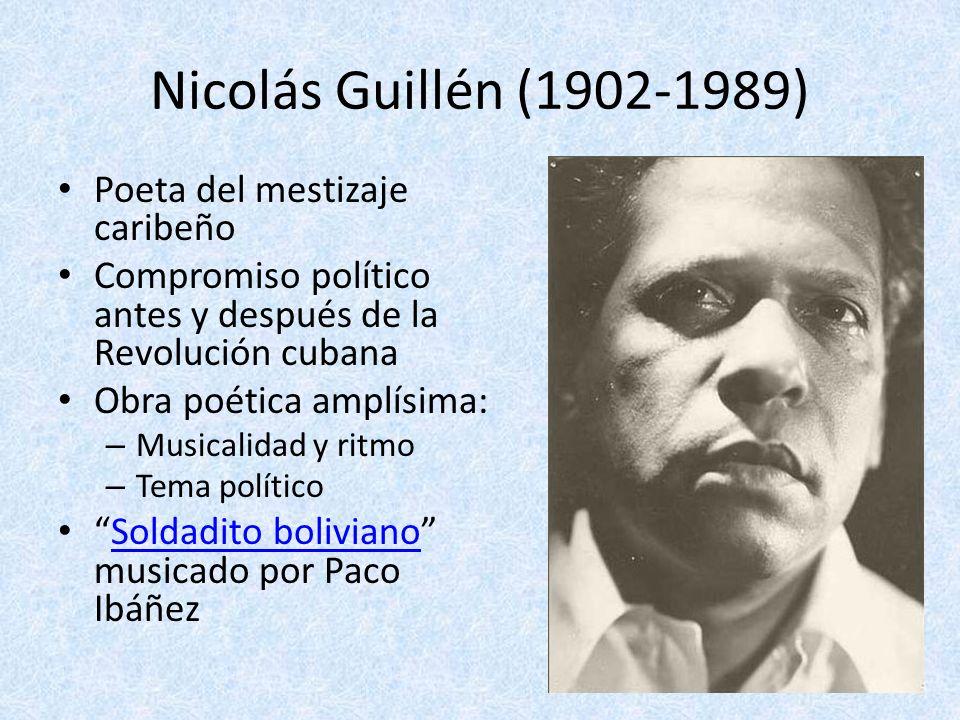 Nicolás Guillén (1902-1989) Poeta del mestizaje caribeño