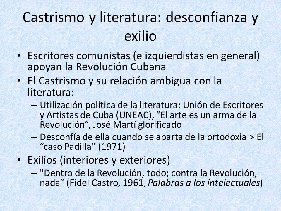 Castrismo y literatura: desconfianza y exilio