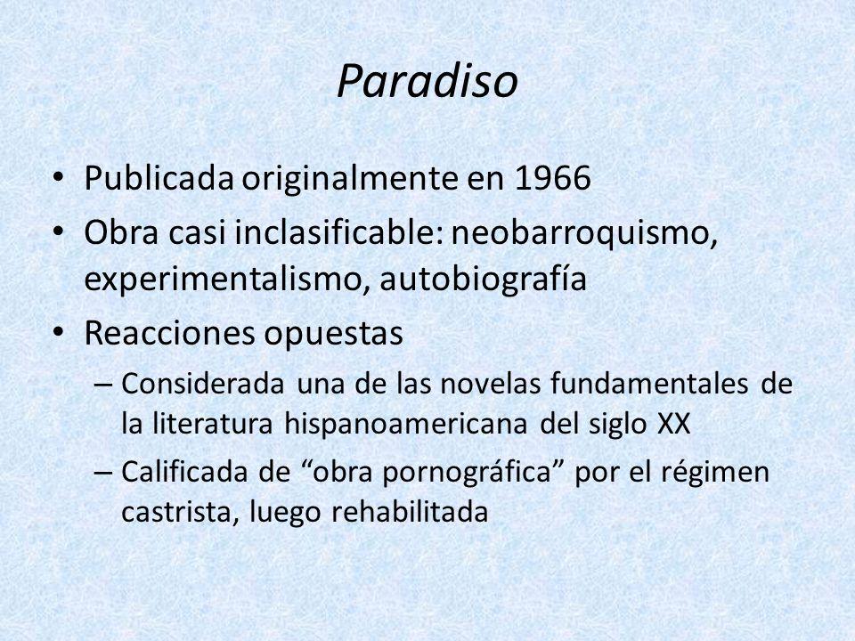 Paradiso Publicada originalmente en 1966