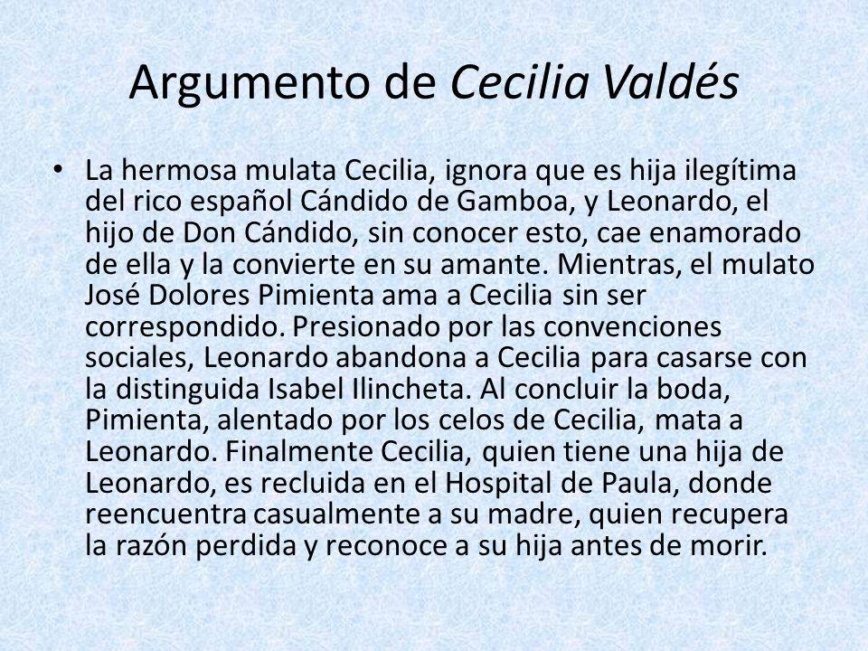 Argumento de Cecilia Valdés