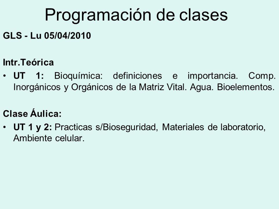 Programación de clases