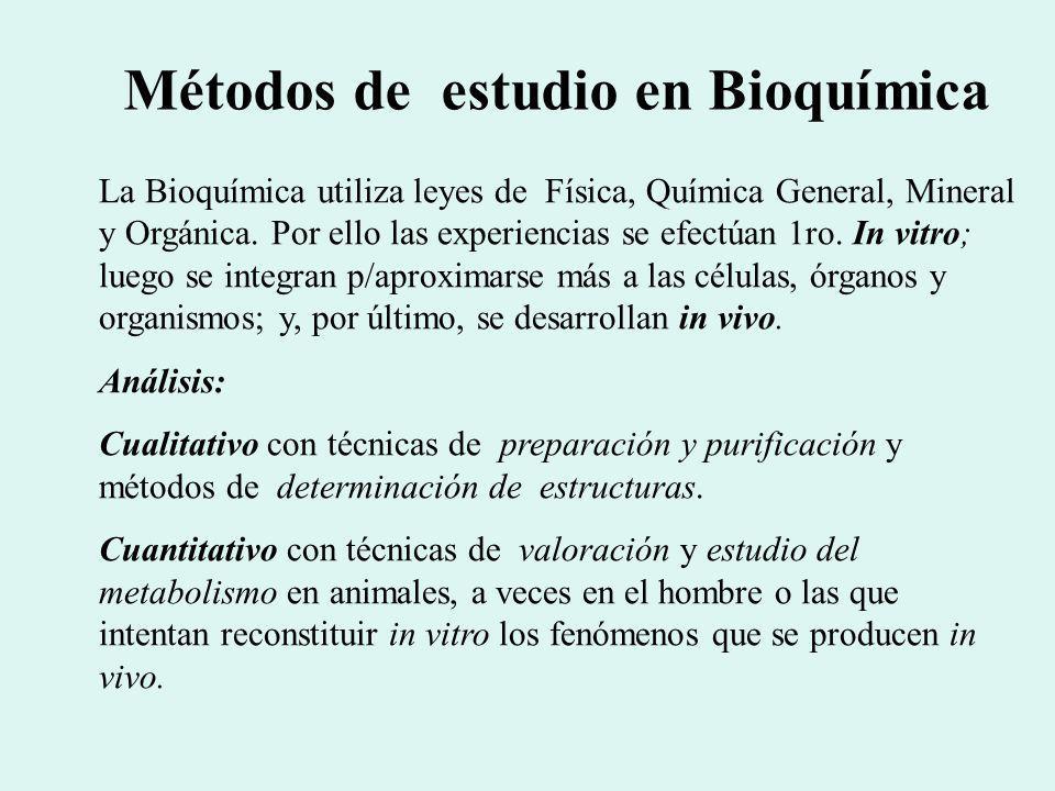 Métodos de estudio en Bioquímica