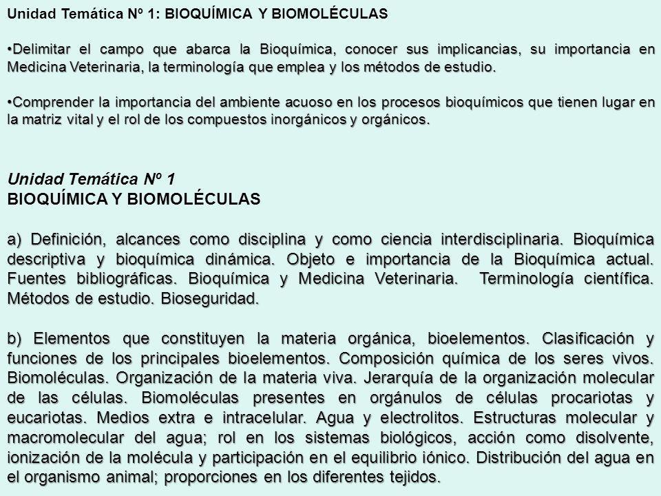 BIOQUÍMICA Y BIOMOLÉCULAS