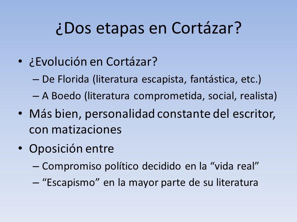 ¿Dos etapas en Cortázar