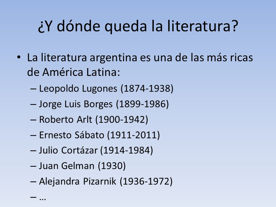 ¿Y dónde queda la literatura