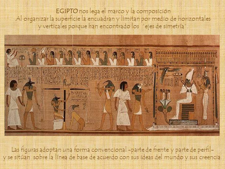 EGIPTO nos lega el marco y la composición
