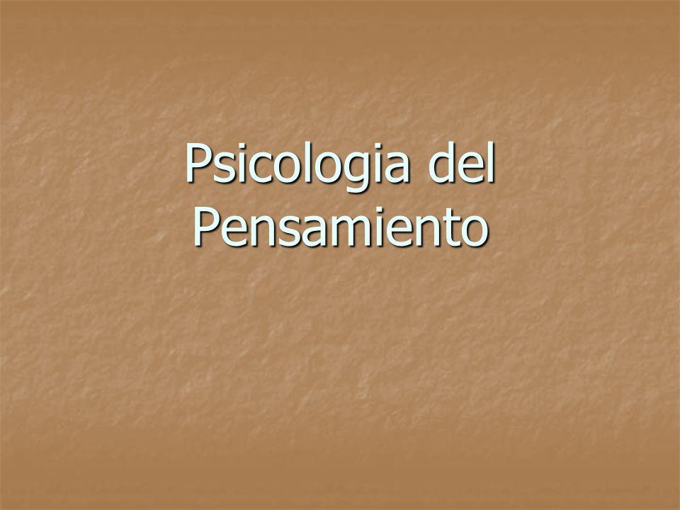 Psicologia del Pensamiento