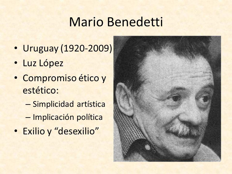 Mario Benedetti Uruguay (1920-2009) Luz López