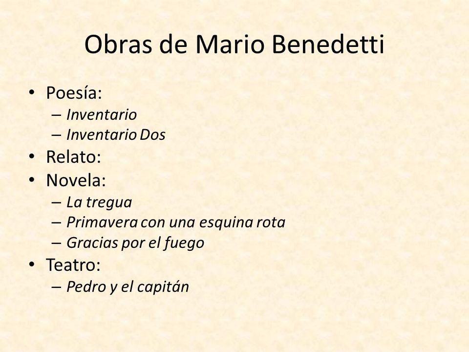 Obras de Mario Benedetti