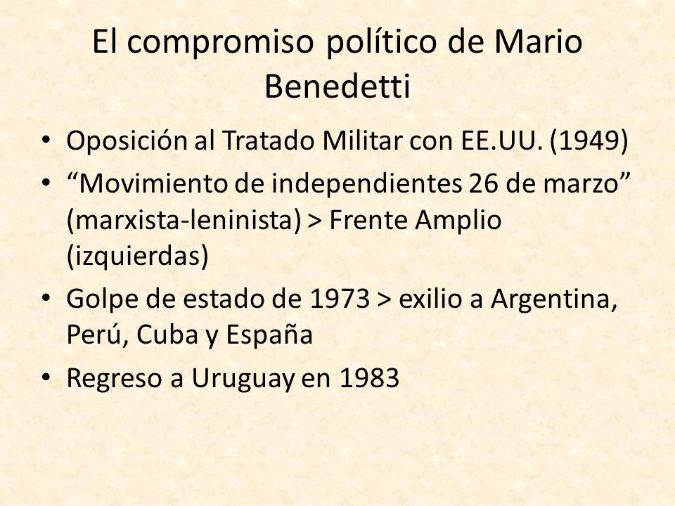El compromiso político de Mario Benedetti