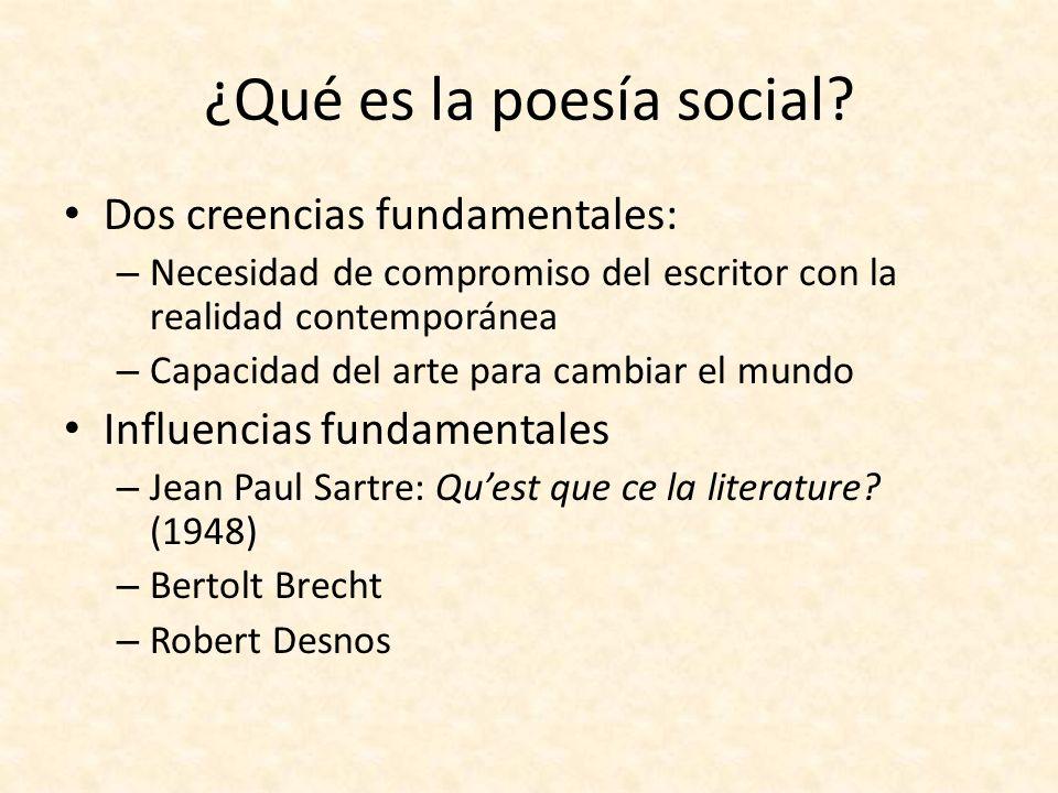 ¿Qué es la poesía social