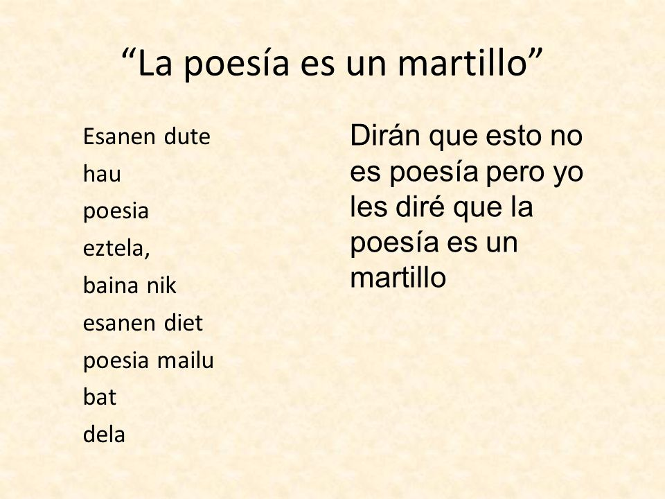 La poesía es un martillo