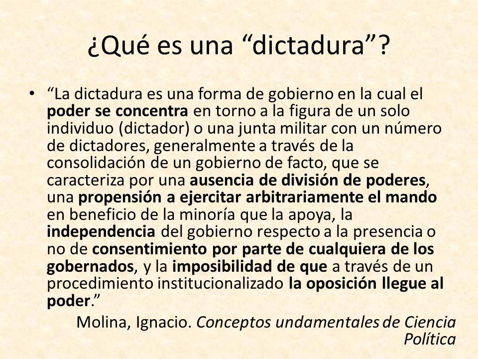 ¿Qué es una dictadura