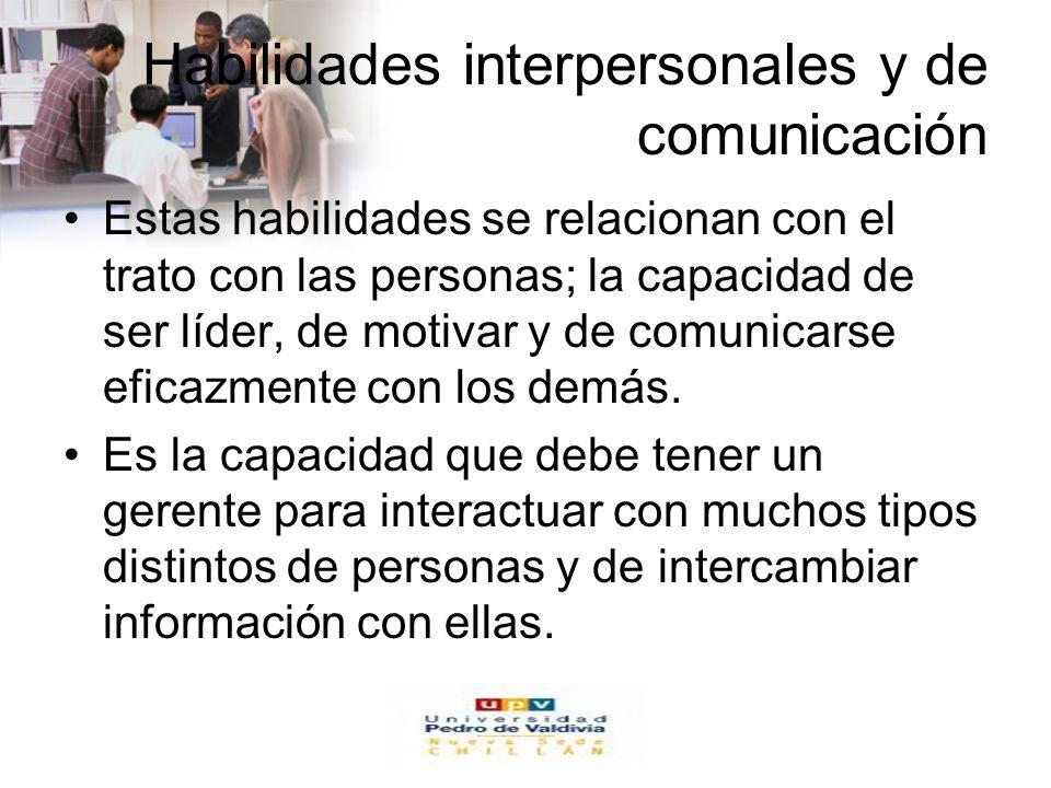 Habilidades interpersonales y de comunicación