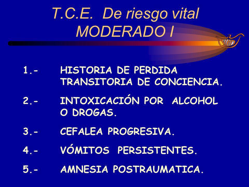 T.C.E. De riesgo vital MODERADO I