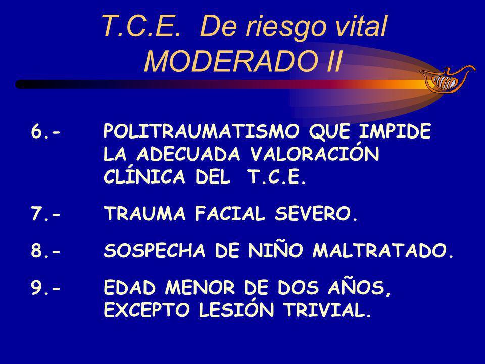 T.C.E. De riesgo vital MODERADO II