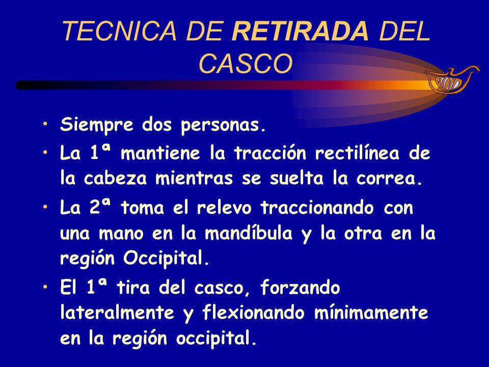 TECNICA DE RETIRADA DEL CASCO