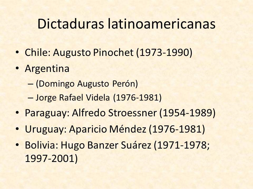 Dictaduras latinoamericanas