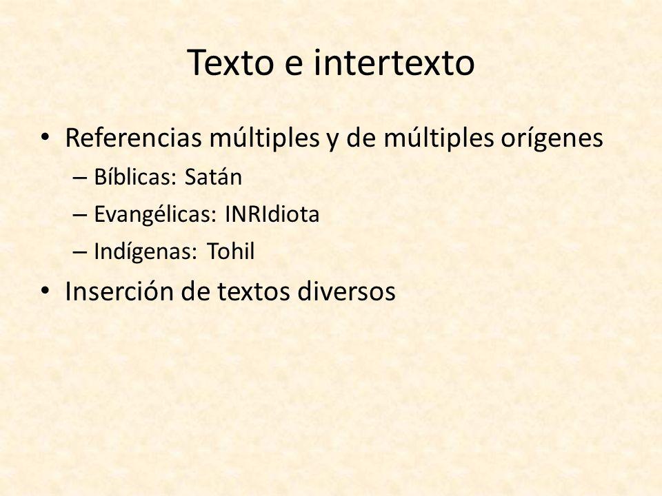 Texto e intertexto Referencias múltiples y de múltiples orígenes