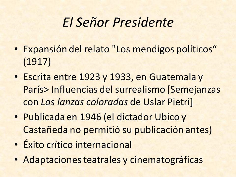 El Señor Presidente Expansión del relato Los mendigos políticos (1917)