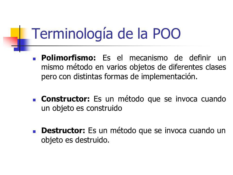 Terminología de la POO