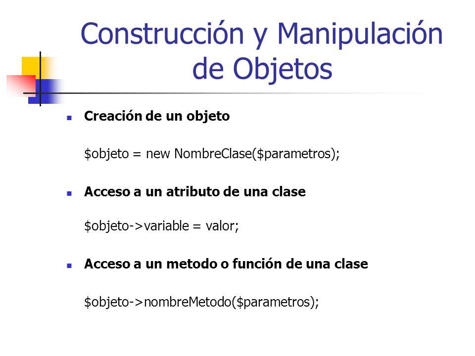 Construcción y Manipulación de Objetos