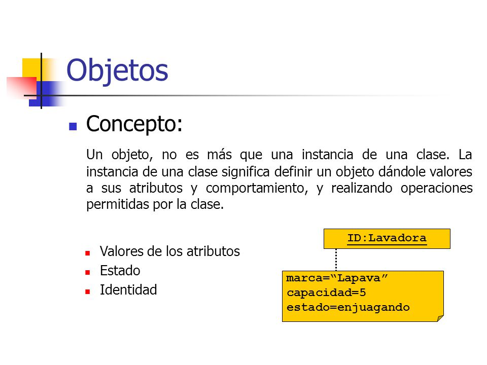 Objetos Concepto:
