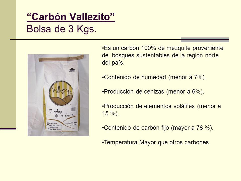 Carbón Vallezito Bolsa de 3 Kgs.