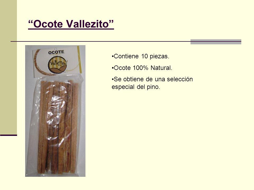 Ocote Vallezito Contiene 10 piezas. Ocote 100% Natural.