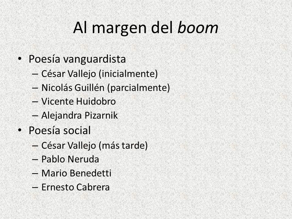 Al margen del boom Poesía vanguardista Poesía social