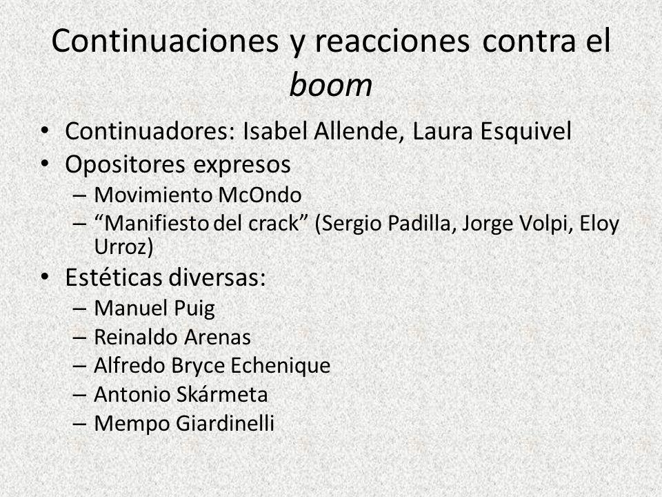 Continuaciones y reacciones contra el boom
