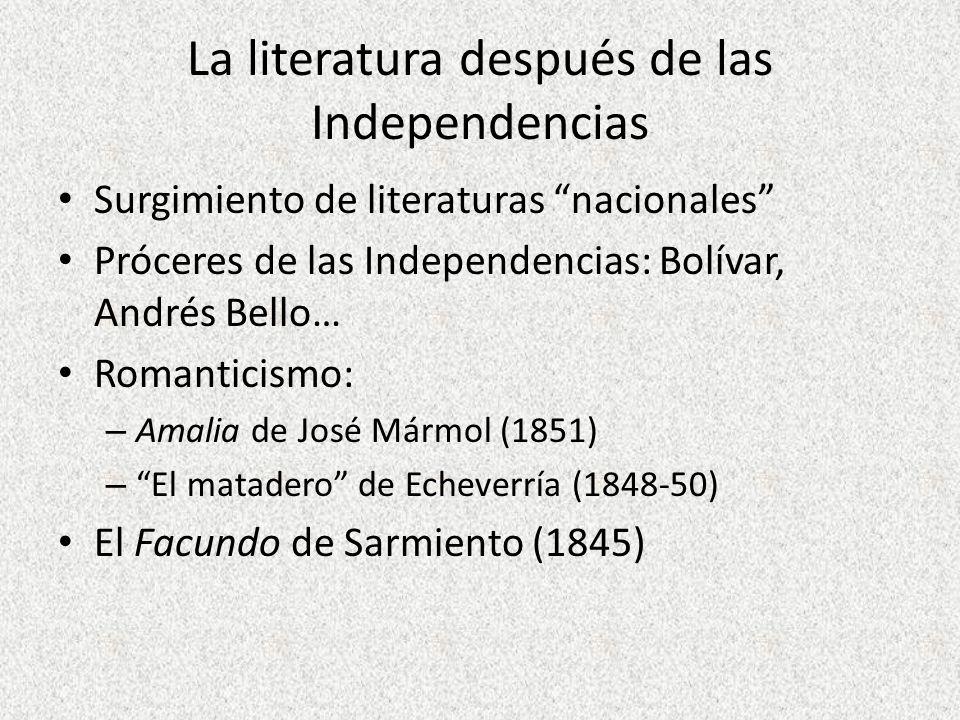La literatura después de las Independencias