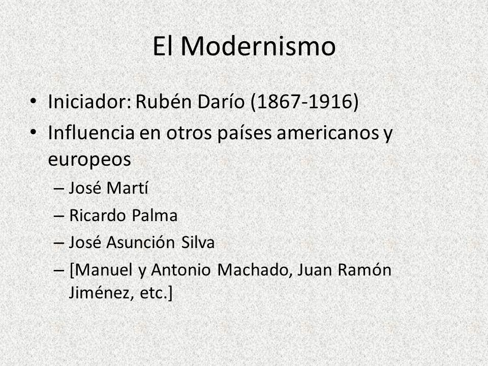El Modernismo Iniciador: Rubén Darío (1867-1916)