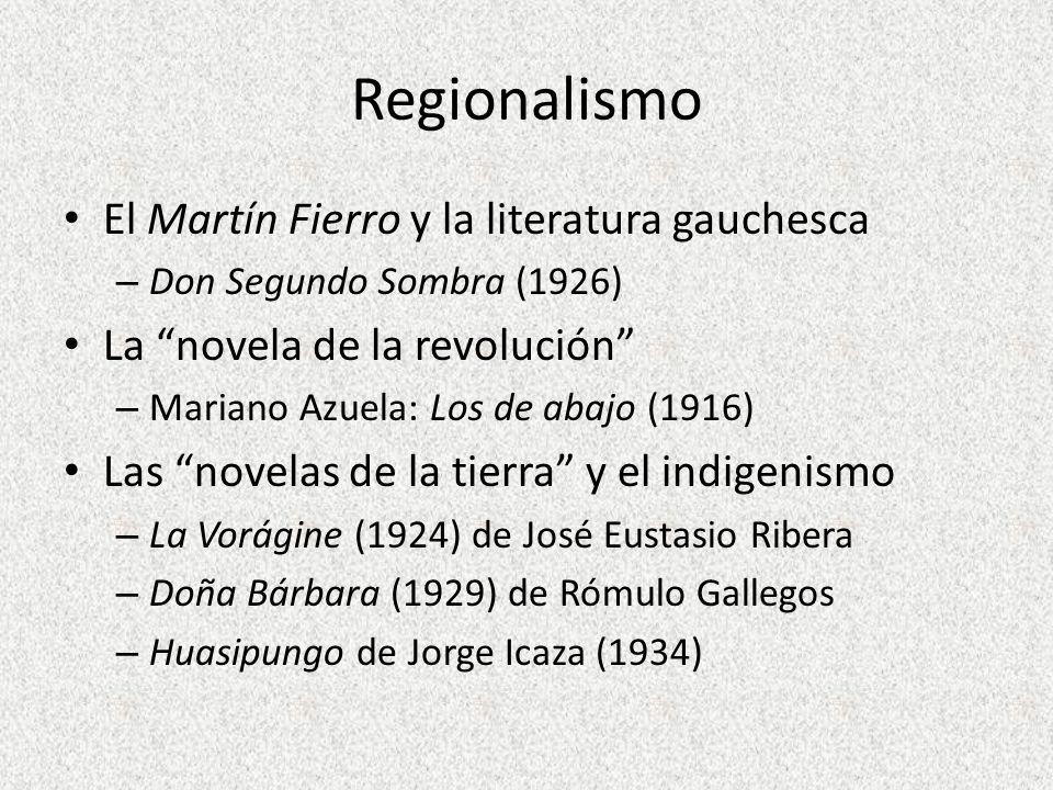 Regionalismo El Martín Fierro y la literatura gauchesca