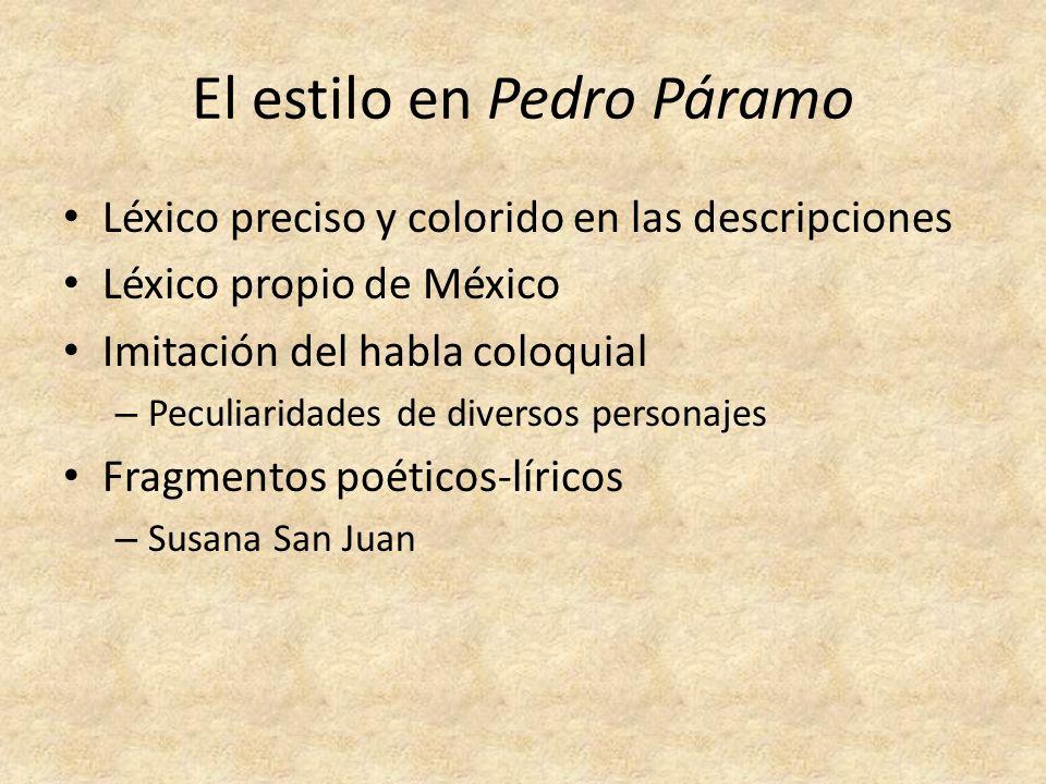 El estilo en Pedro Páramo