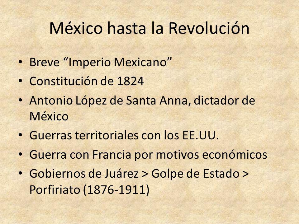 México hasta la Revolución