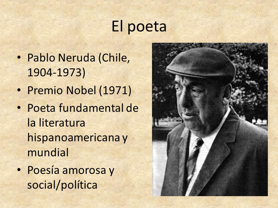 El poeta Pablo Neruda (Chile, 1904-1973) Premio Nobel (1971)