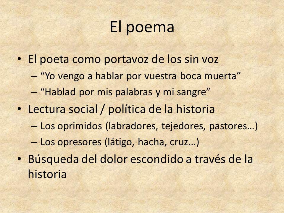 El poema El poeta como portavoz de los sin voz