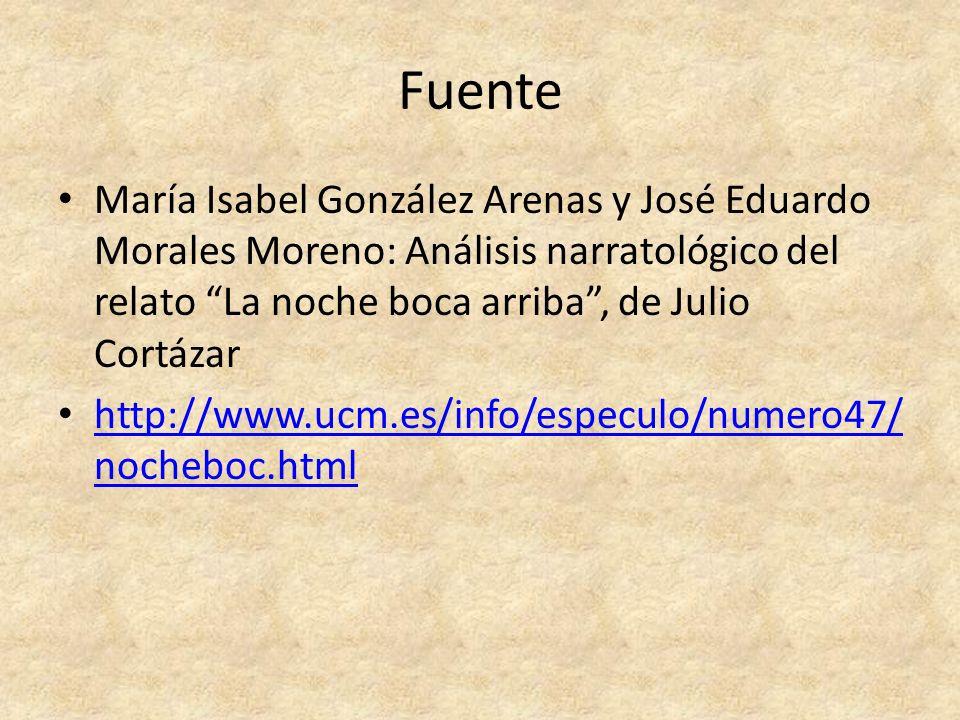 FuenteMaría Isabel González Arenas y José Eduardo Morales Moreno: Análisis narratológico del relato La noche boca arriba , de Julio Cortázar.
