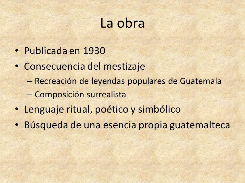La obra Publicada en 1930 Consecuencia del mestizaje