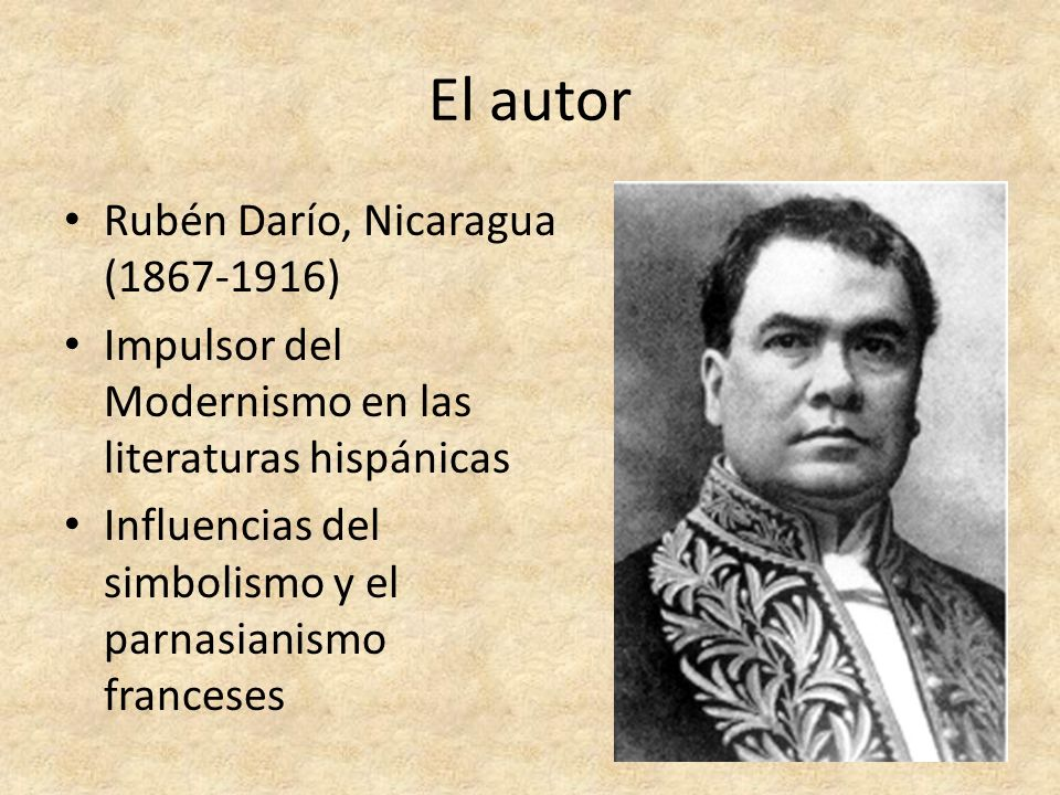 El autor Rubén Darío, Nicaragua (1867-1916)