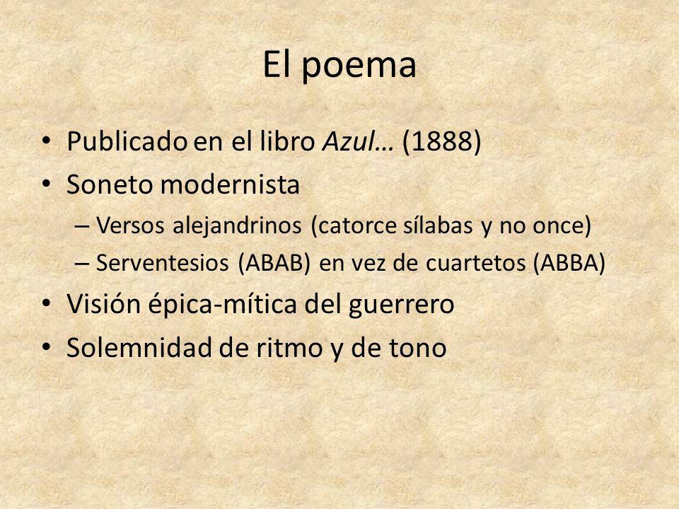 El poema Publicado en el libro Azul… (1888) Soneto modernista